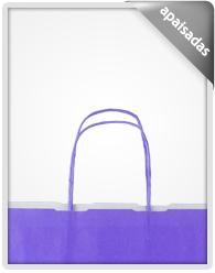 f664008b6 Bolsas de papel kraft con asa rizada en el mismo color de la bolsa
