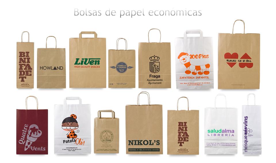 43eb0949a Bolsas de papel baratas económicas impresas personalizadas