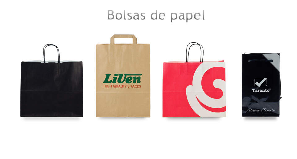 e90af586b Bolsas de papel personalizadas impresas publicitarias baratas y de ...